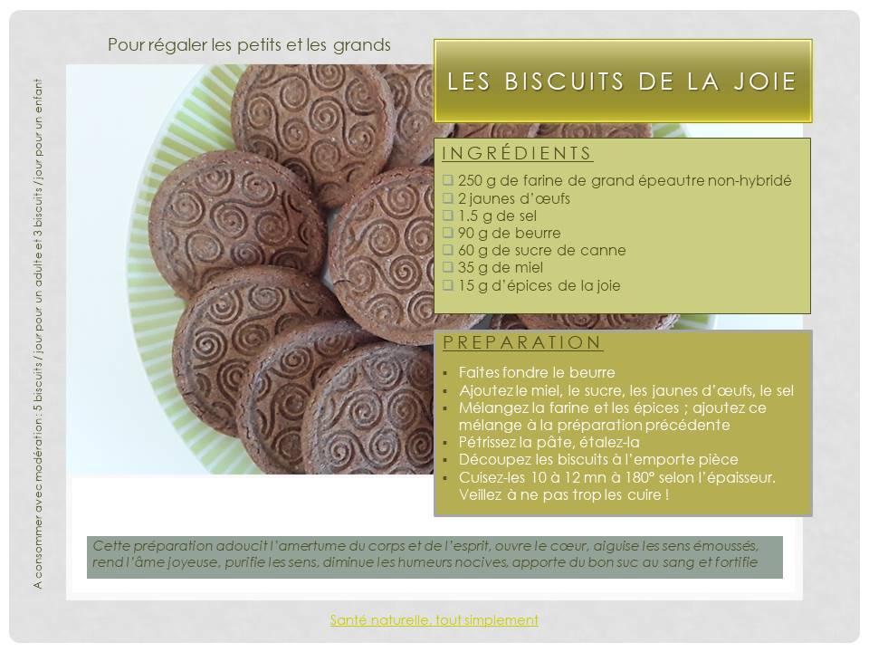 Recette des biscuits de la joie