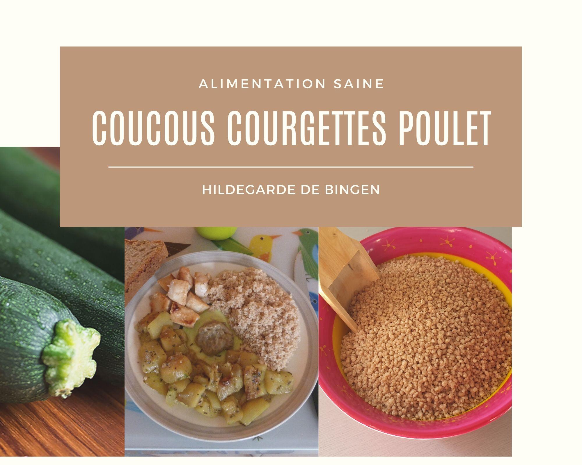 Couscous de courgettes et poulet