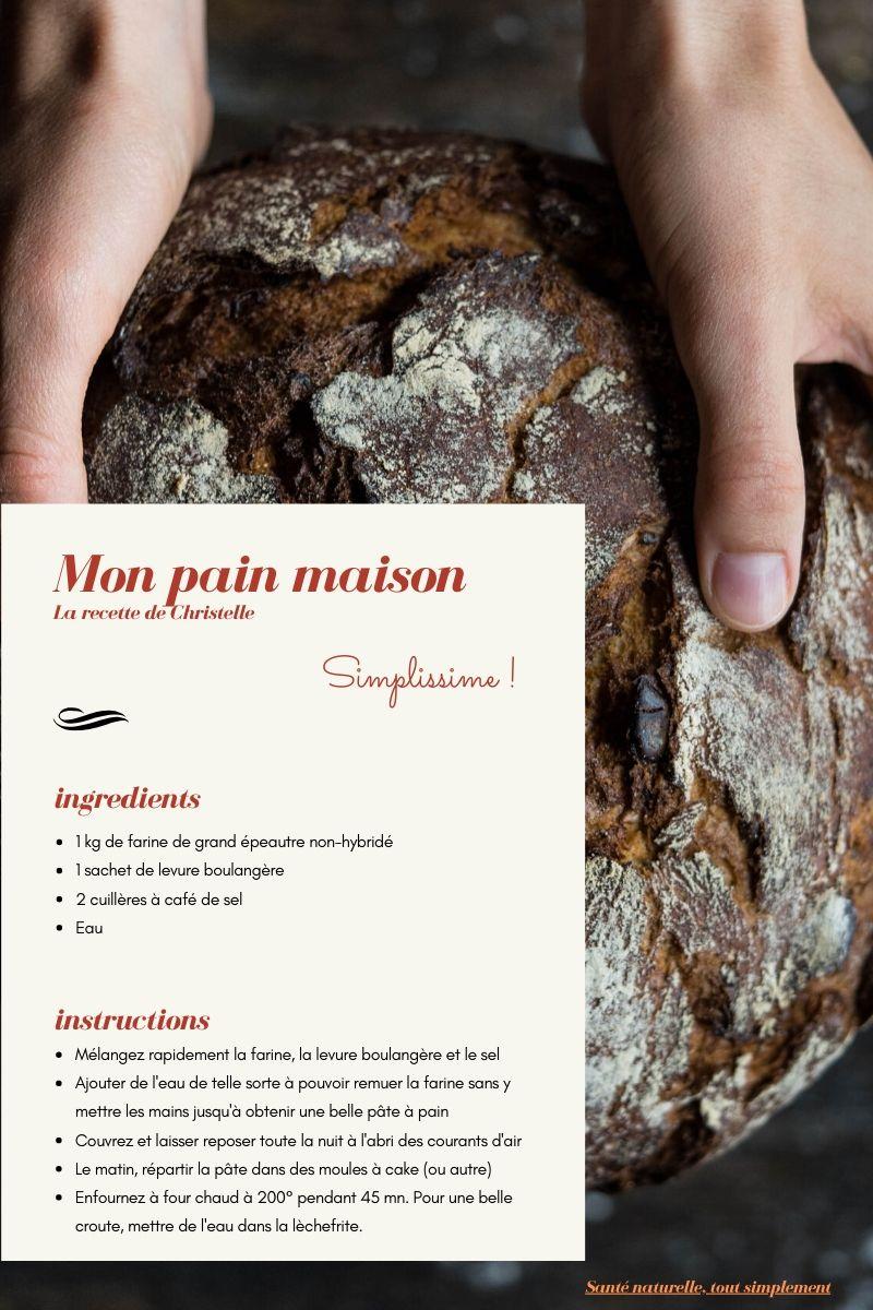 Mon pain maison, les secrets de la réussi de Christelle