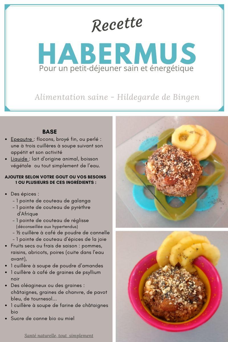 Habermus, le petit-déjeuner parfait  à l'école d'Hildegarde de Bingen