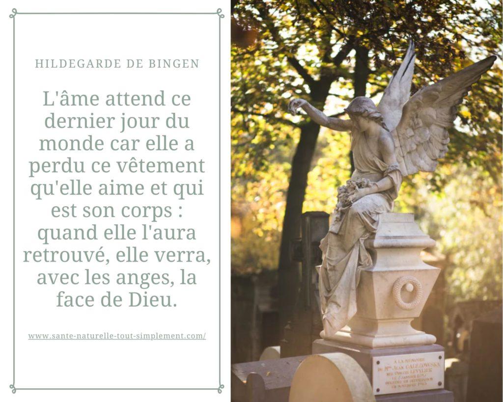 Citation de Sainte Hildegarde de Bingen : l'âme attend...
