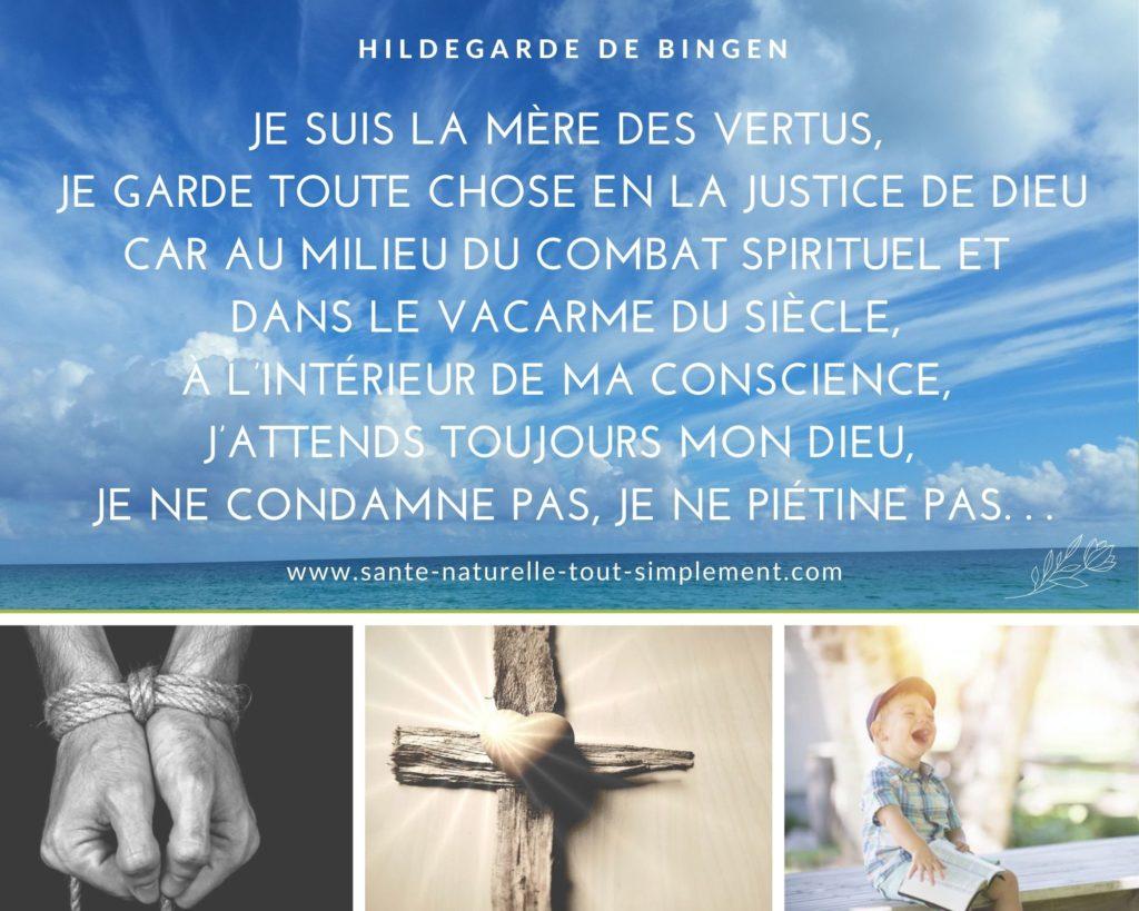 Je suis la mère des vertus : citation de sainte Hildegarde de Bingen