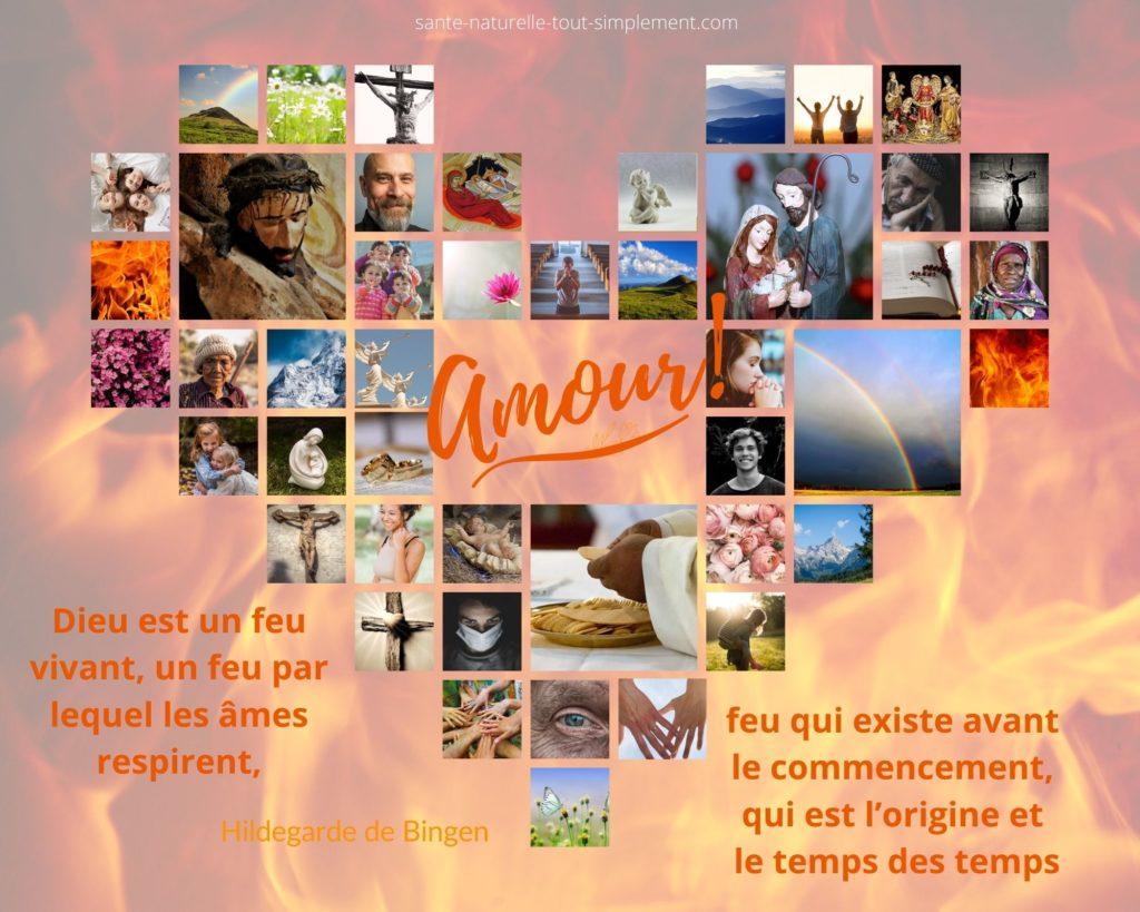 Dieu est un feu : citation de sainte Hildegarde de Bingen