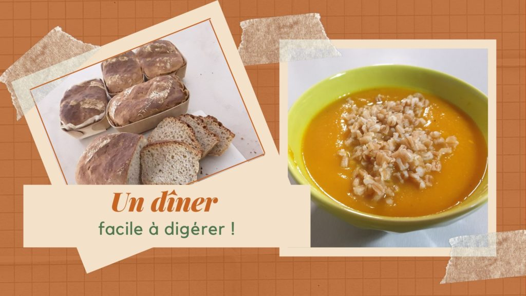 Menu de mon dîner de diète jour 1
