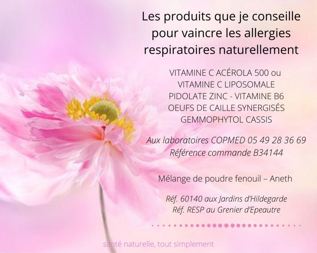 Produits naturels contre les allergies respiratoires