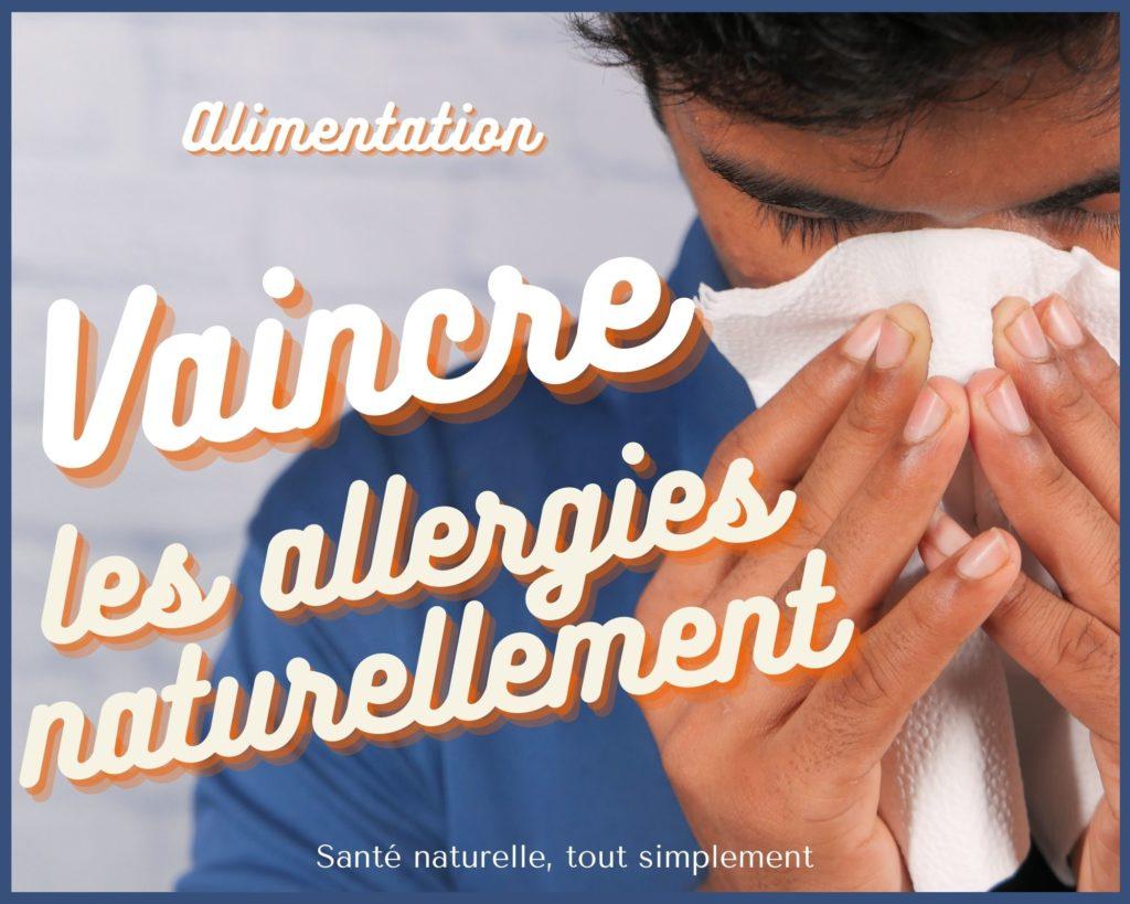 Allergies respiratoires : alimentation saine